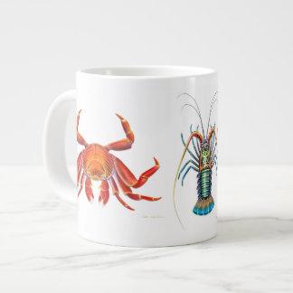 Amo la taza de los crustáceos taza jumbo