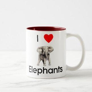 Amo la taza de los elefantes