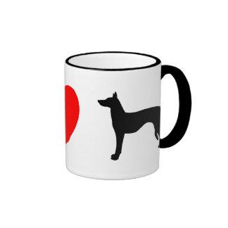Amo la taza de los perros de Ibizan