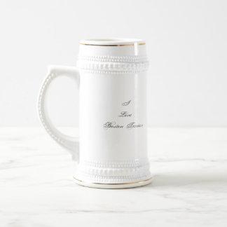 Amo la taza de los terrieres de Boston