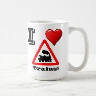 Amo la taza de los trenes