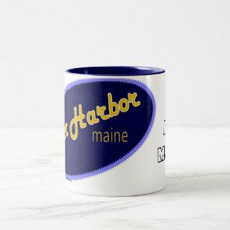 Amo la taza de Maine del puerto de la barra