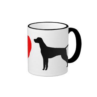 Amo la taza de Vizslas