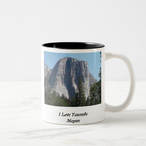 Amo la taza de Yosemite con la foto del EL Capitan