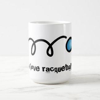 Amo la taza del coffe del racquetball