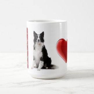 Amo la taza del collie de Collies~Border de la fro