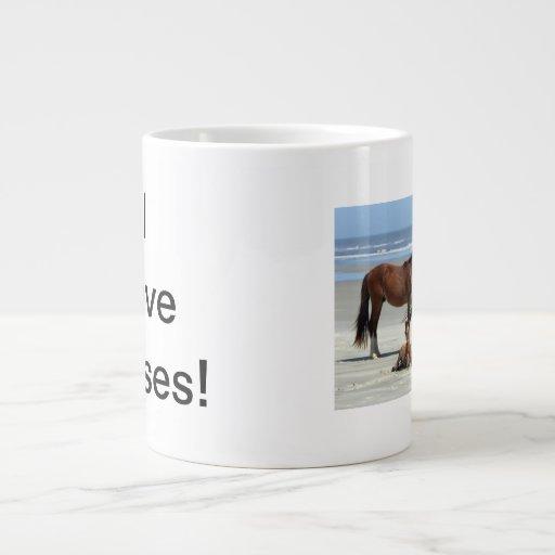 Amo la taza del jumbo de los caballos tazas jumbo
