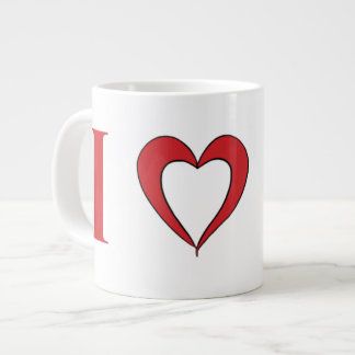 Amo la taza del jumbo de Marte -- 20oz. Taza Grande