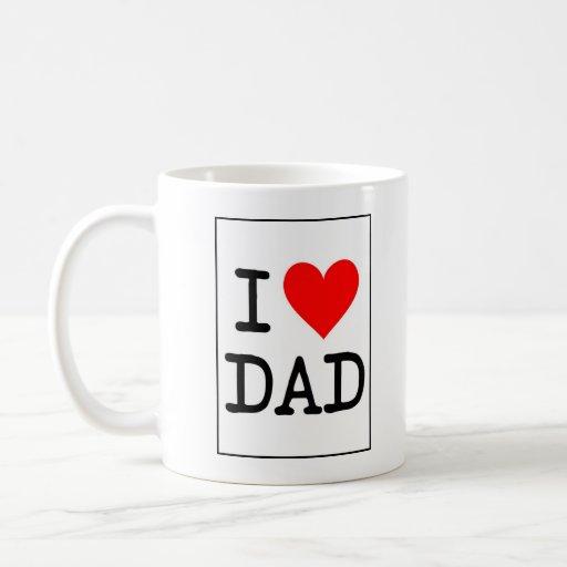 Amo la taza del papá (del corazón)