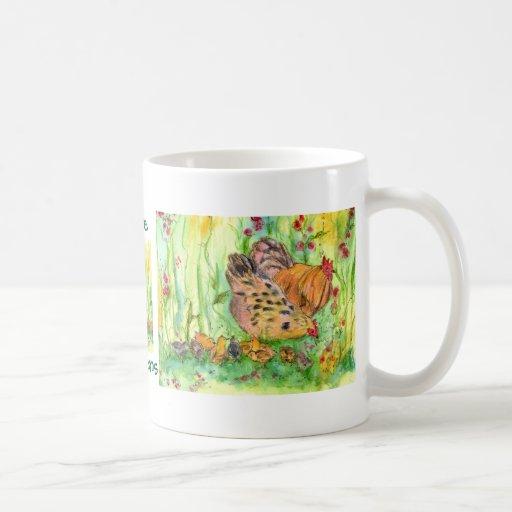 Amo la taza del té de los polluelos del gallo de l