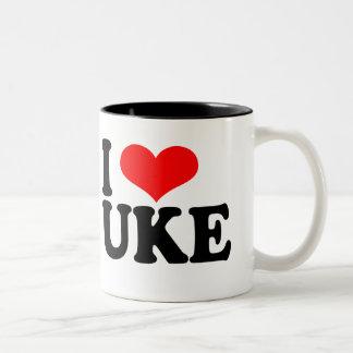 Amo la taza del Ukulele de Uke