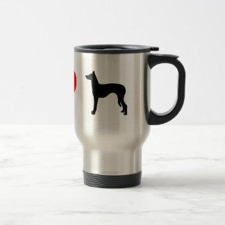 Amo la taza del viaje de los perros de Ibizan