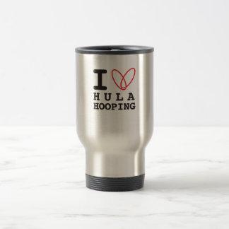 Amo la taza hooping del viaje del hula