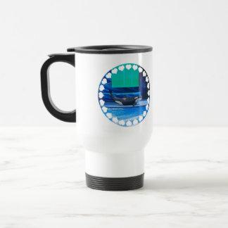 Amo la taza plástica del viaje de las orcas