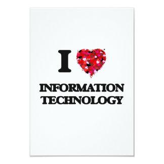 """Amo la tecnología de la información invitación 3.5"""" x 5"""""""