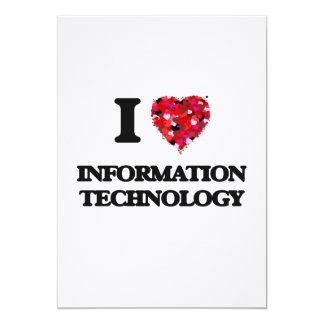 """Amo la tecnología de la información invitación 5"""" x 7"""""""