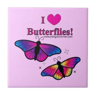 Amo la teja de las mariposas
