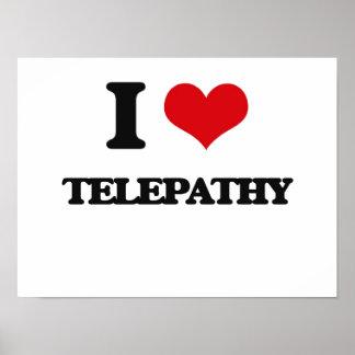 Amo la telepatía póster