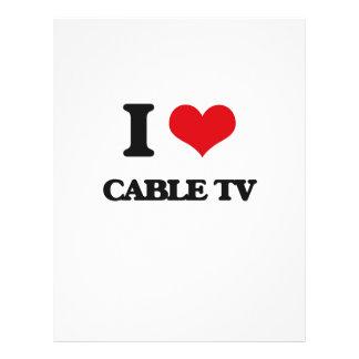 Amo la televisión por cable tarjeta publicitaria