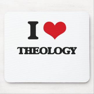 Amo la teología alfombrilla de ratón