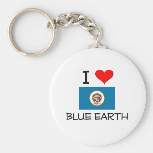 Amo la tierra azul Minnesota Llavero Personalizado