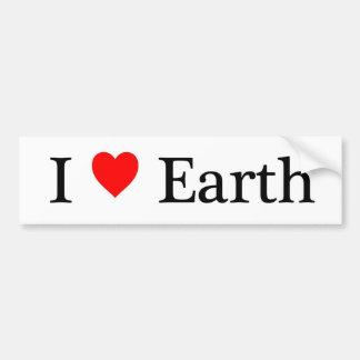 Amo la tierra pegatina de parachoque