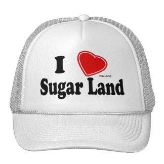 Amo la tierra del azúcar gorros bordados