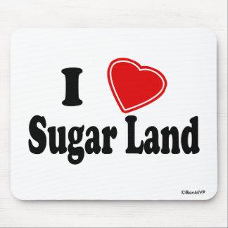 Amo la tierra del azúcar tapete de raton