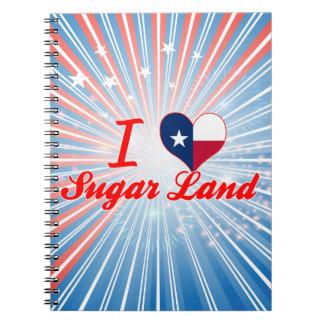 Amo la tierra del azúcar, Tejas Libros De Apuntes Con Espiral