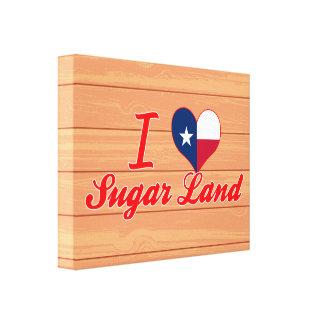 Amo la tierra del azúcar, Tejas Impresiones En Lona Estiradas