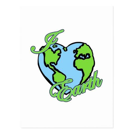 amo la tierra del planeta (del corazón) postales
