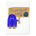 Amo la tierra del planeta invitación personalizada