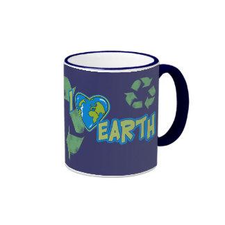 Amo la tierra reciclo la taza