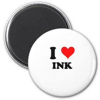 Amo la tinta imanes de nevera