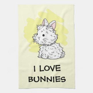Amo la toalla de cocina de los conejitos -