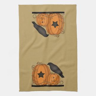 Amo la toalla de la calabaza del cuervo de la caíd