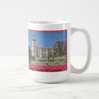 Amo la torre de Londres Taza Básica Blanca