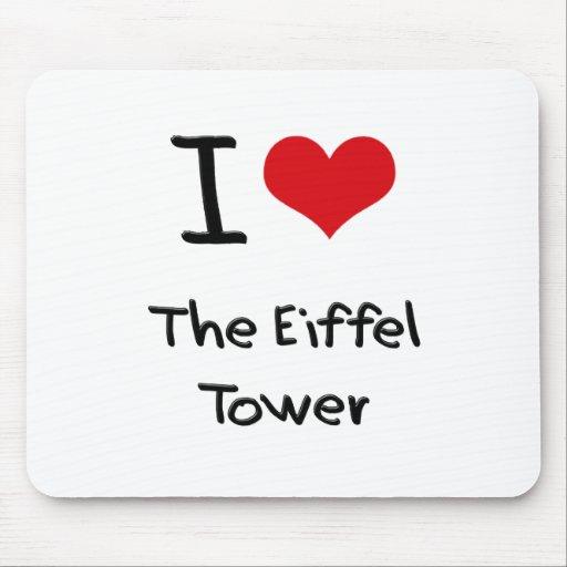 Amo la torre Eiffel Alfombrillas De Ratones