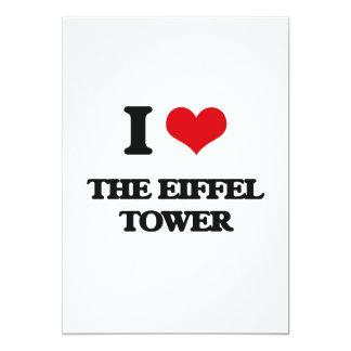 """Amo la torre Eiffel Invitación 5"""" X 7"""""""
