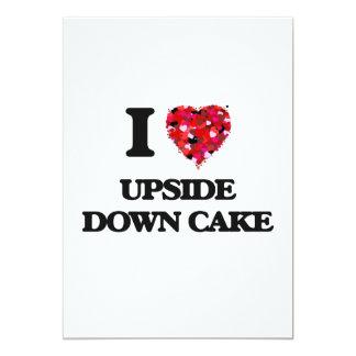 "Amo la torta al revés invitación 5"" x 7"""