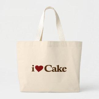 Amo la torta bolsa tela grande