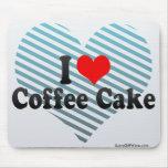 Amo la torta de café alfombrilla de raton