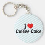 Amo la torta de café llavero personalizado