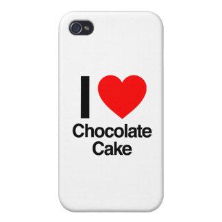 amo la torta de chocolate iPhone 4/4S fundas