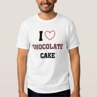 Amo la torta de chocolate playera