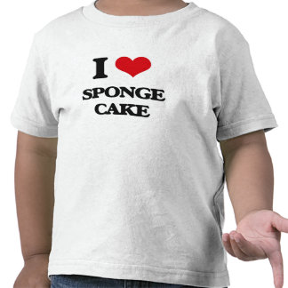 Amo la torta de esponja camiseta