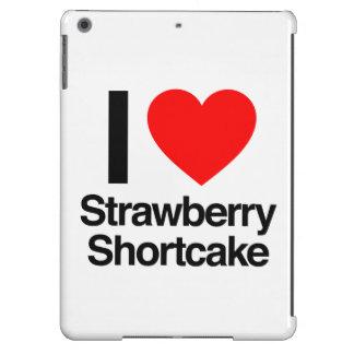 amo la torta de frutas de la fresa funda para iPad air