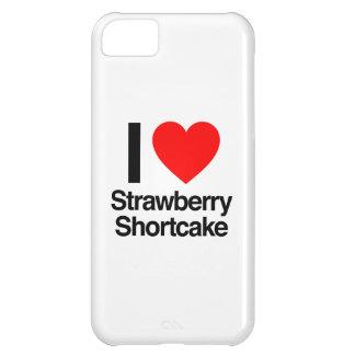 amo la torta de frutas de la fresa funda para iPhone 5C