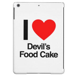 amo la torta de la comida del diablo funda para iPad air