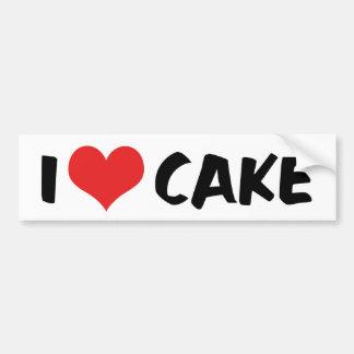 Amo la torta del corazón - amante del buñuelo de pegatina para auto